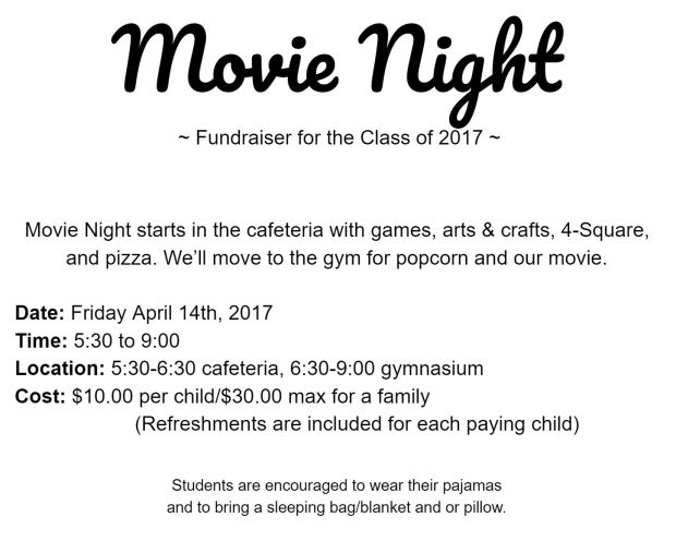 Movie Night 4-13
