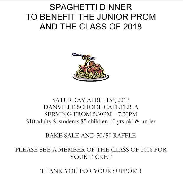 Spaghetti Dinner 4-15
