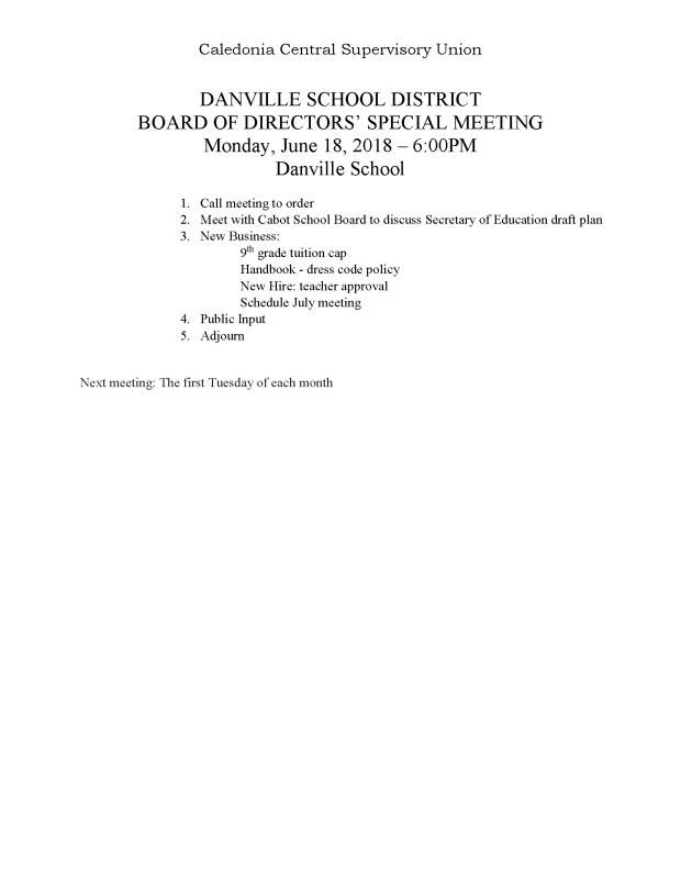 2018-06-18 danville special agenda